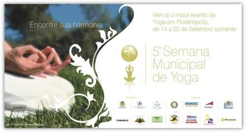 Semana Municipal de Yoga em Florianópolis